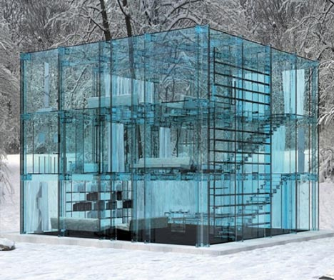 Glass house image courtesy of Dornob.com